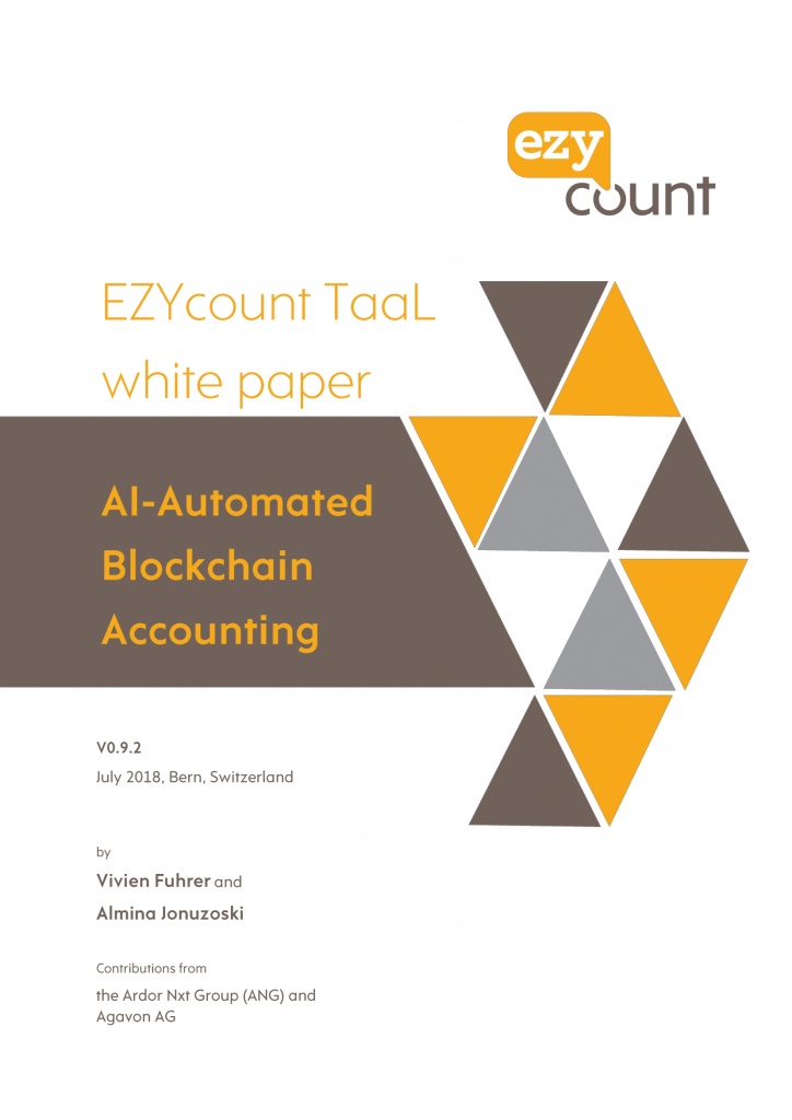 EZYcount TaaL whitepaper v0.9.2 front page