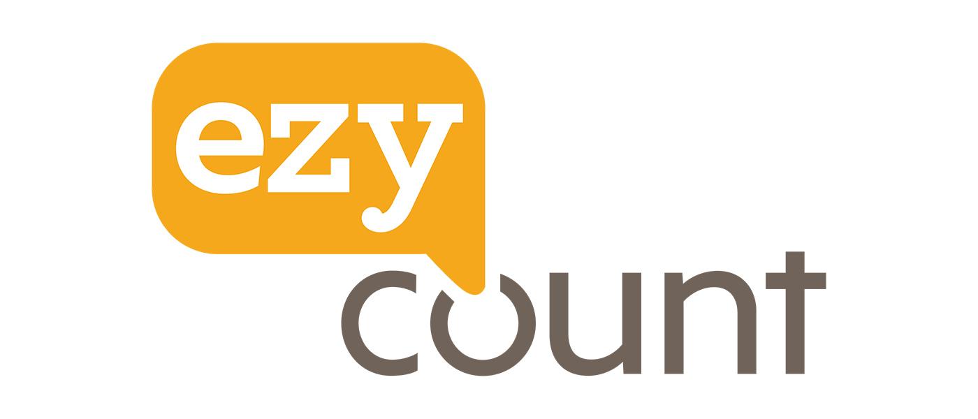 EZYcount white logo